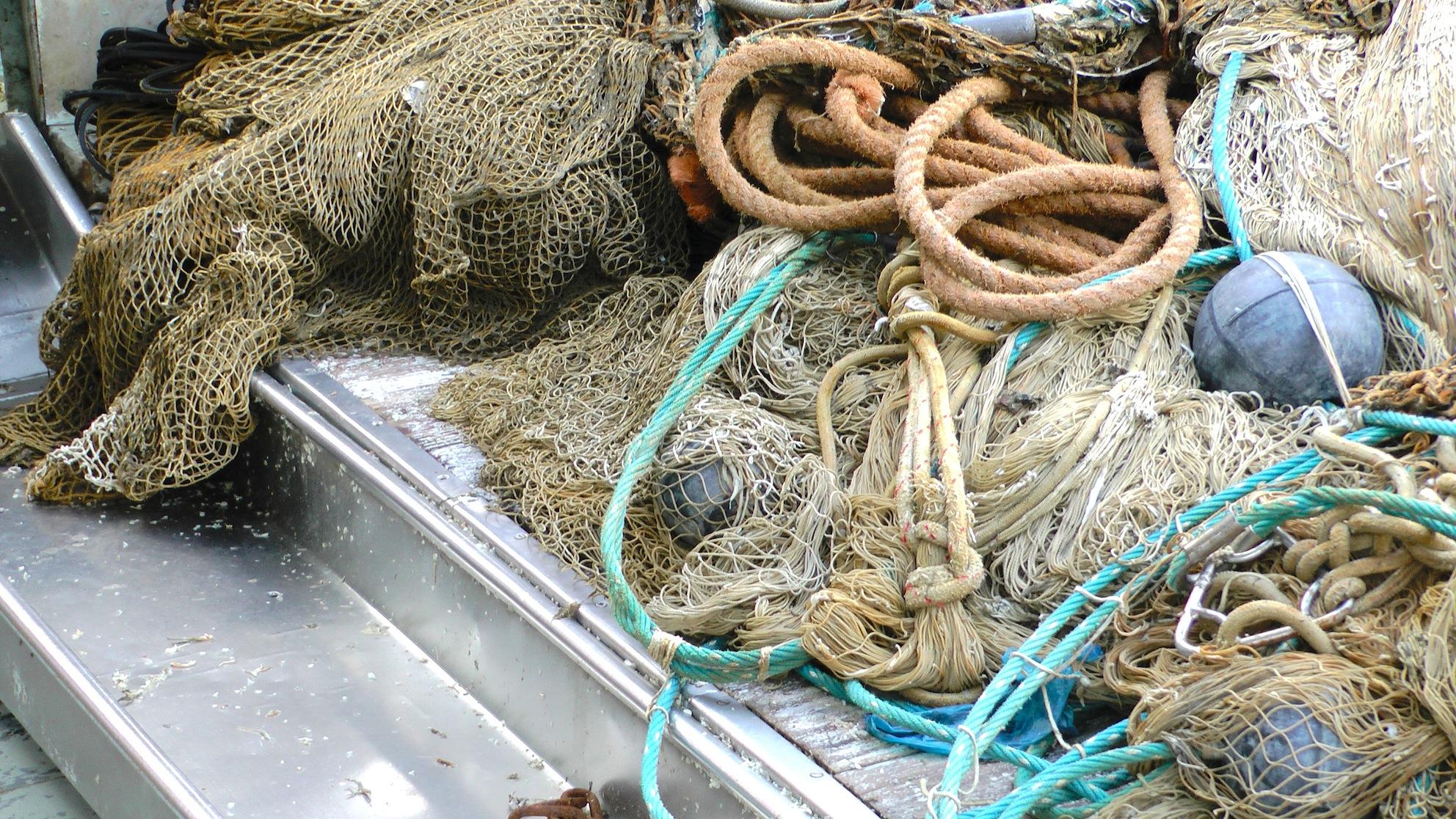 Netze auf Fischerbooten