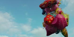Luftballons im Himmel