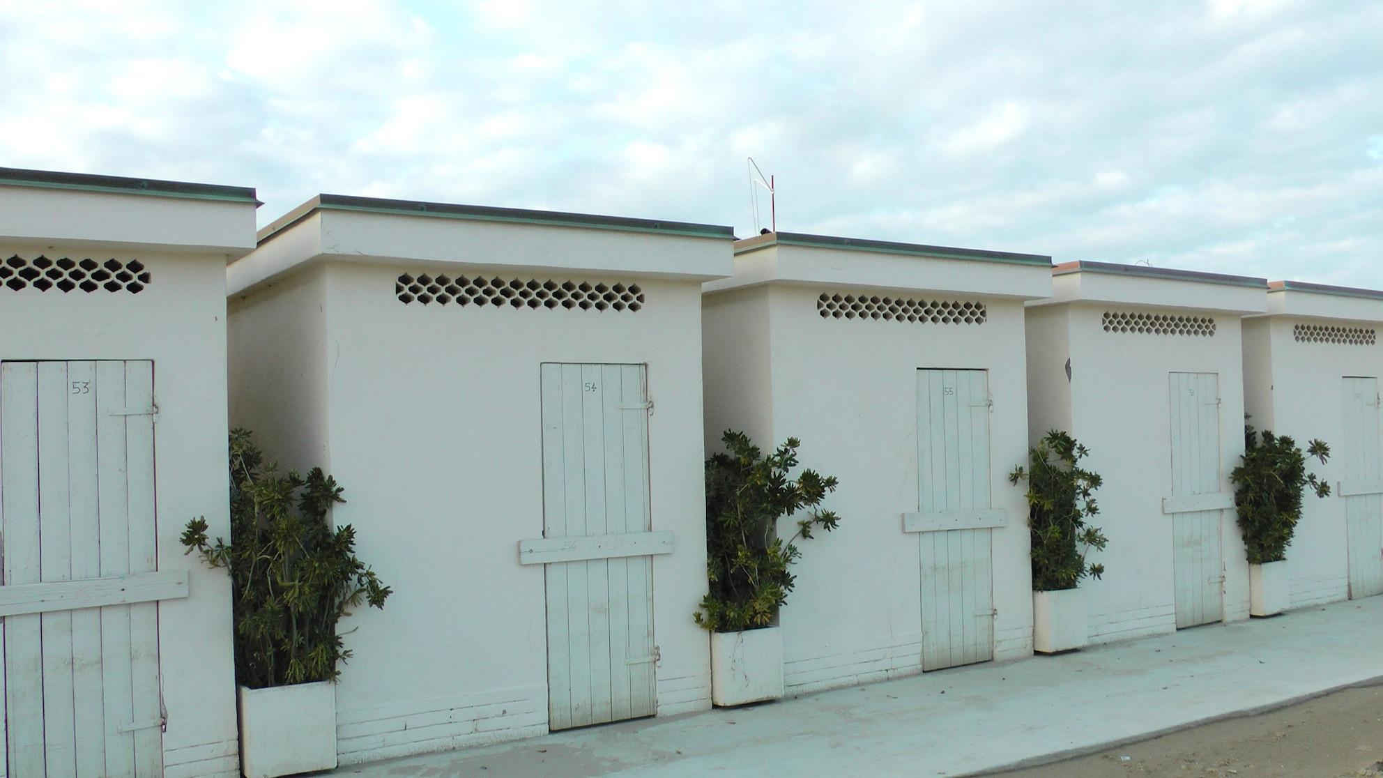 Badehäuschen in Rimini
