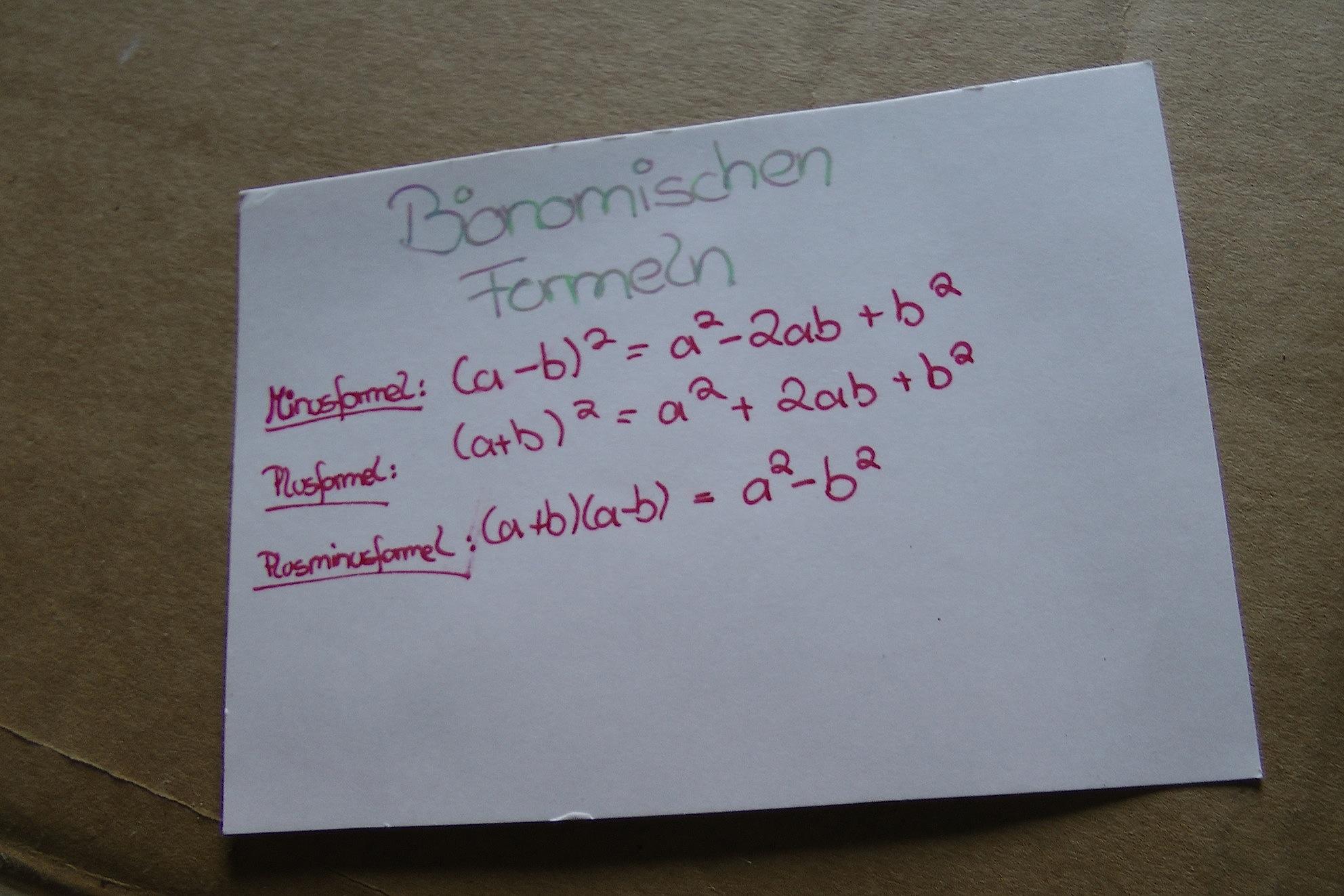 bionomische Formeln