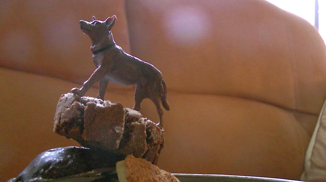 Wolf auf Keksen