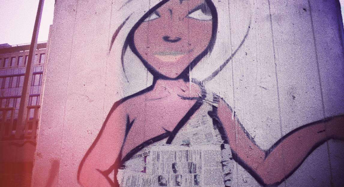 Grafitti Frau