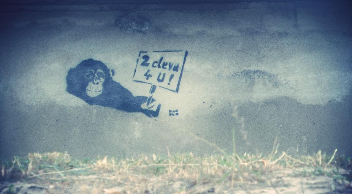 Grafitti an der Wand
