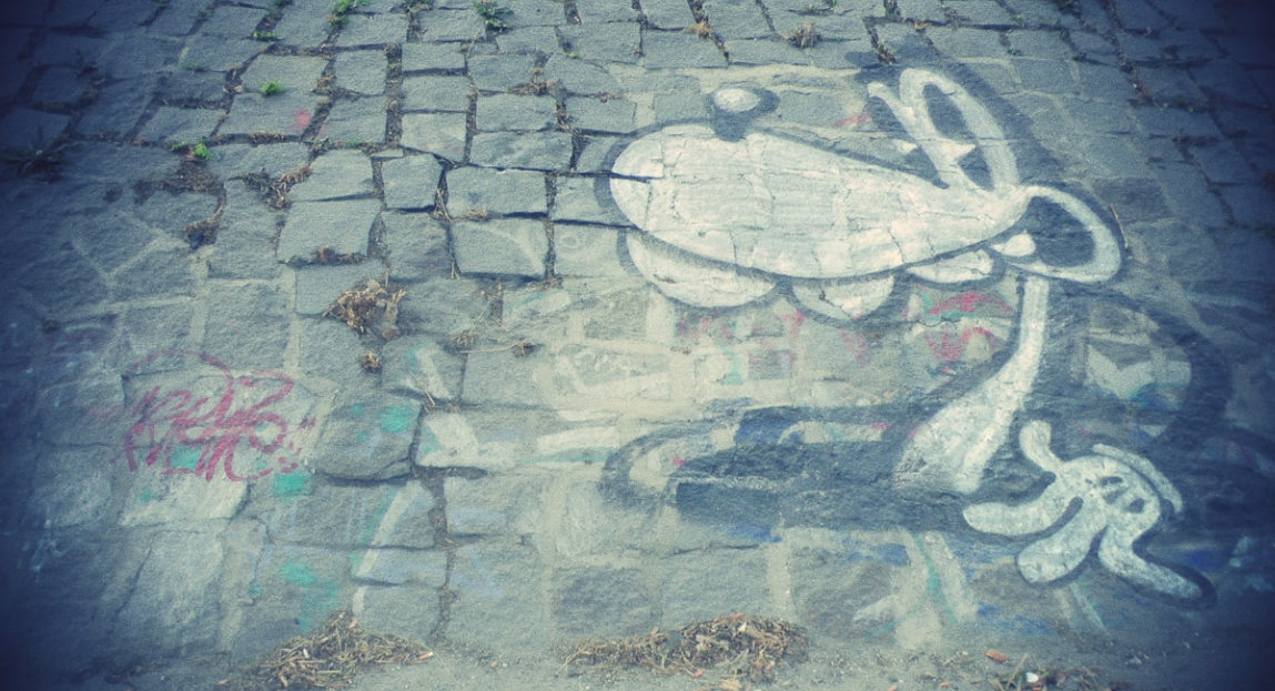 Grafitti gesprüht