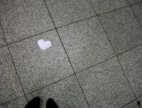 Herz-auf-Boden