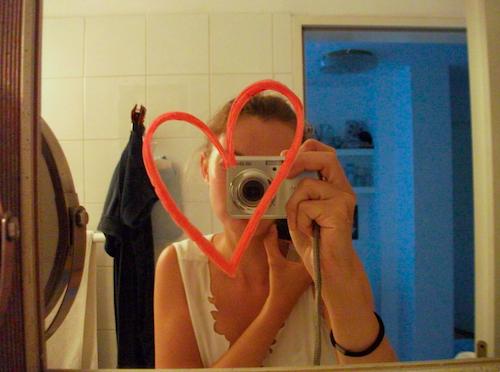 Herz-auf-Spiegel