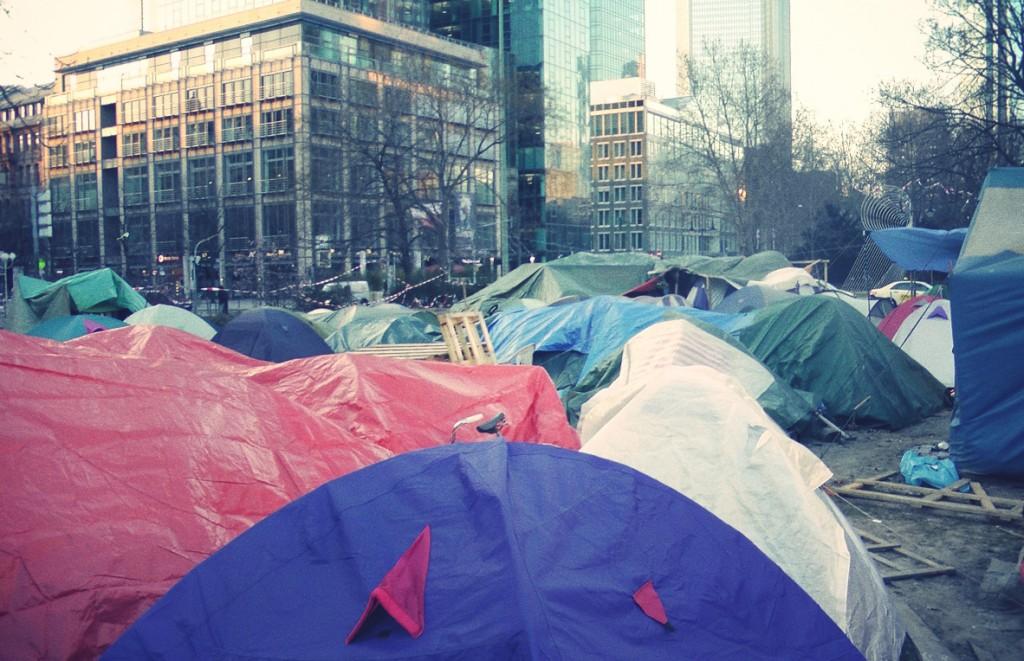 Zelte-Occupy-Frankfurt