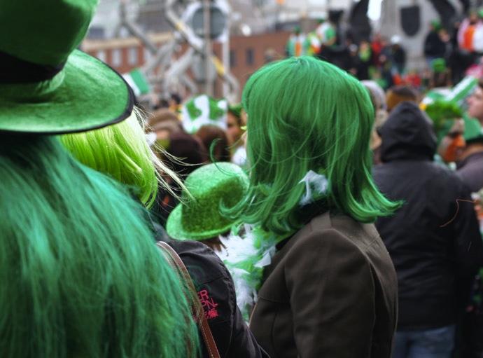 St.Patricks-Day-Perücke