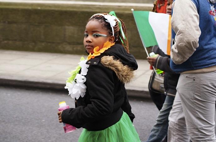 St.Patricksday-Mädchen