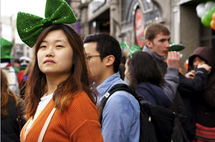 St.Patricksday-Outfit-Schleife