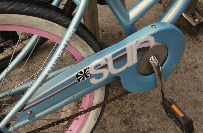 rosa-Fahrrad