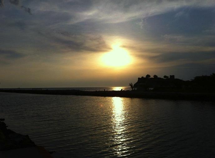 Sonnenuntergang-Griechenland