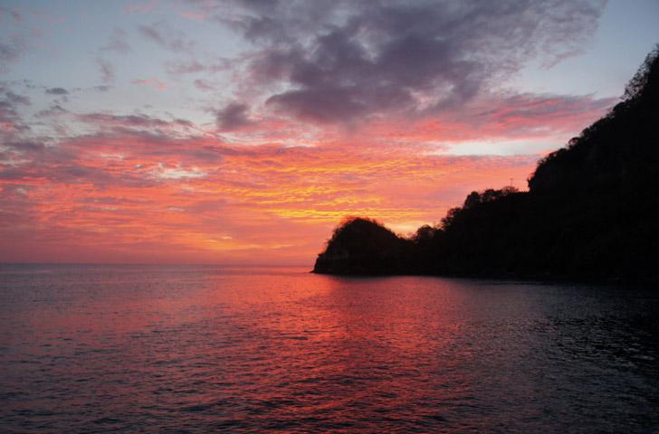 Sonnenuntergang-Karibik