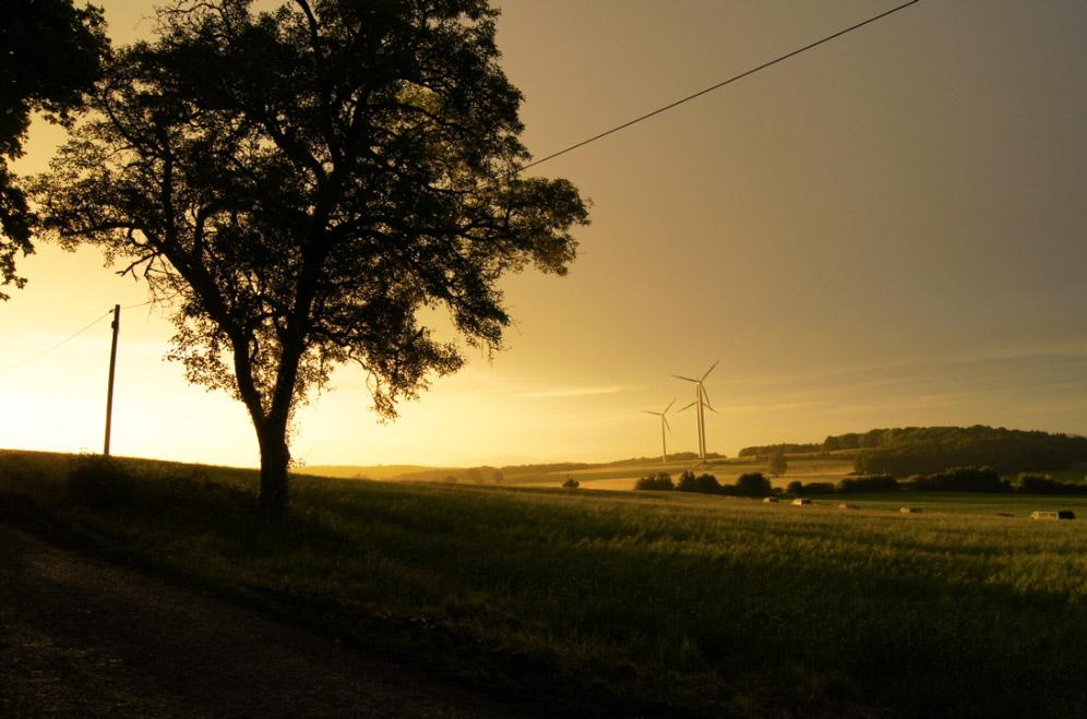 Sonnenuntergang-Land
