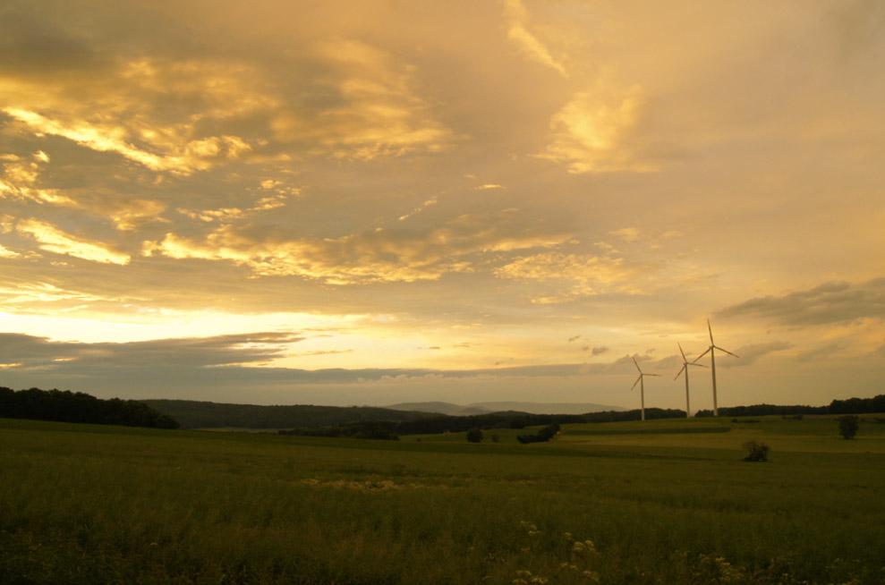 Windräder-Landschaft