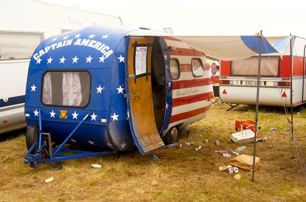 Wohnwagen-Amerikaflagge
