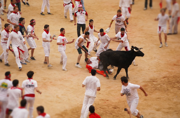 Running-of-the-bull-Spain