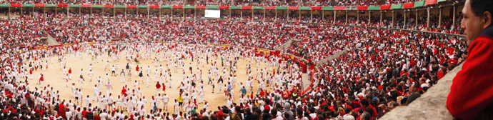 Running-of-the-bull-arena