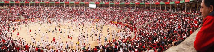 Running-of-the-bull-arena