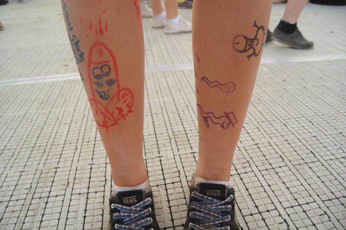 Edding-Tattoo-Penis