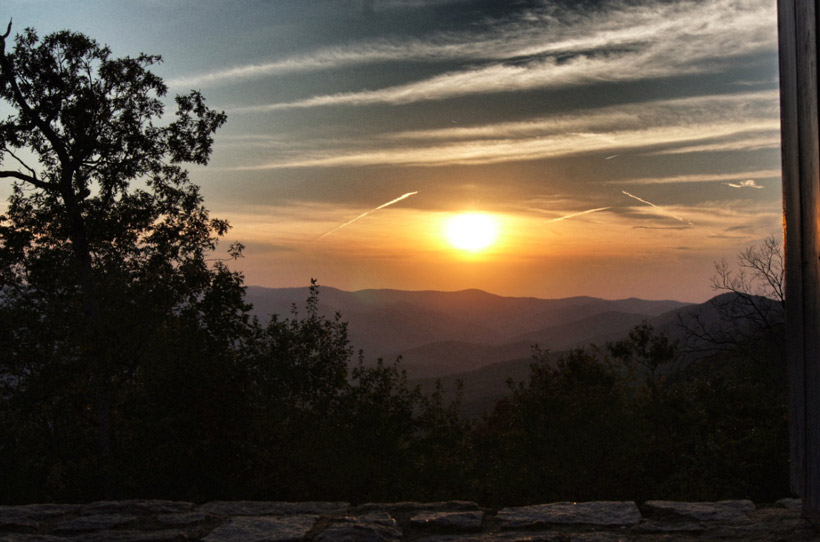 Amicalola Falls State Park Lodge-Sunset