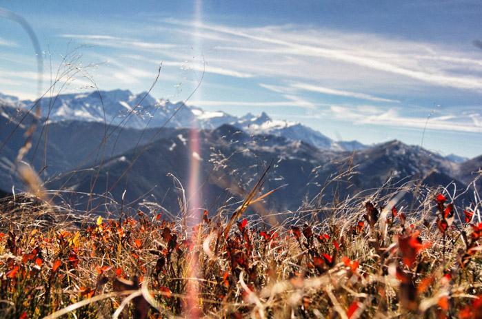 Ausblick-Gebirge