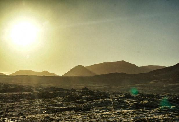 Hügellandschaft.Island