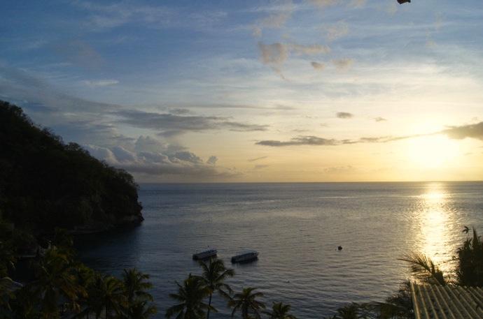 Sonnenuntergang-Saint-Lucia