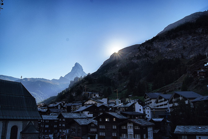 Sonnenuntergang-Zermatt