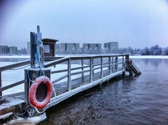 Eisschwimmen-Oulu-Finnland