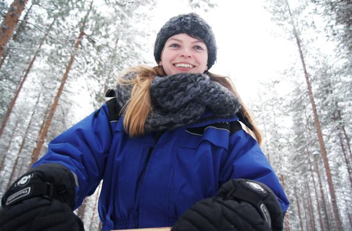 Schlittenfahrt-Finnland