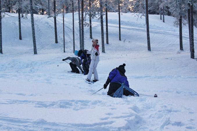 Schneeschuhwanderung-Finnland