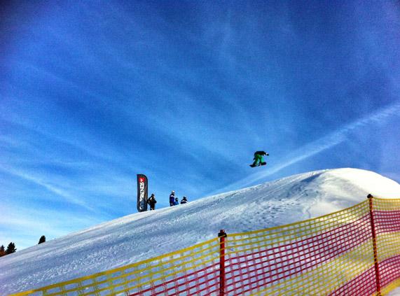 Snowboarder-Seiser-Alm