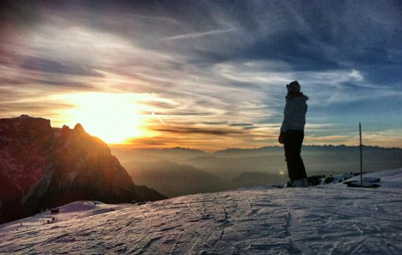 Sonnenuntergang-Seiser-Alm-Südtirol