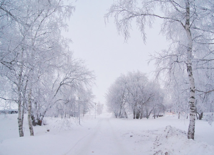Winter-Finnland