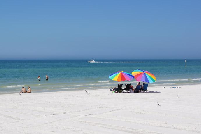 Clearwater-Beach-Sonnenschirm