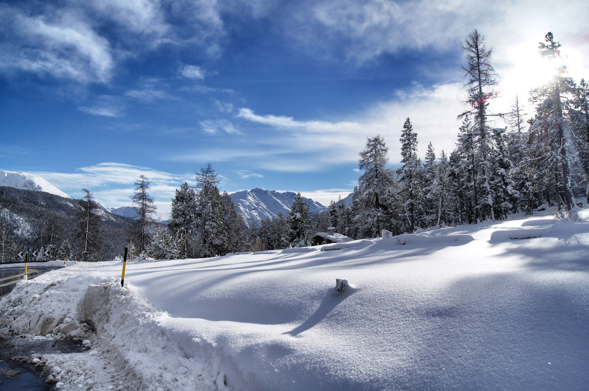 Schneelandschaft-Schweiz