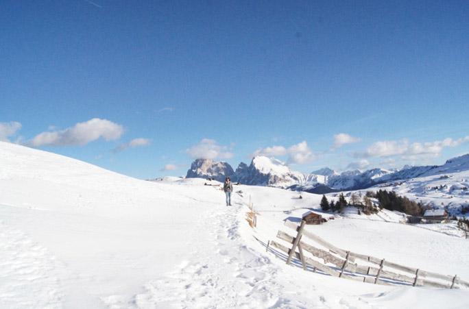Seiser-Alm-Schneelandschaft