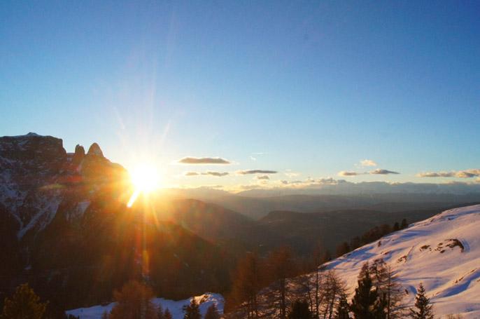 Sonnenuntergang-Schlern