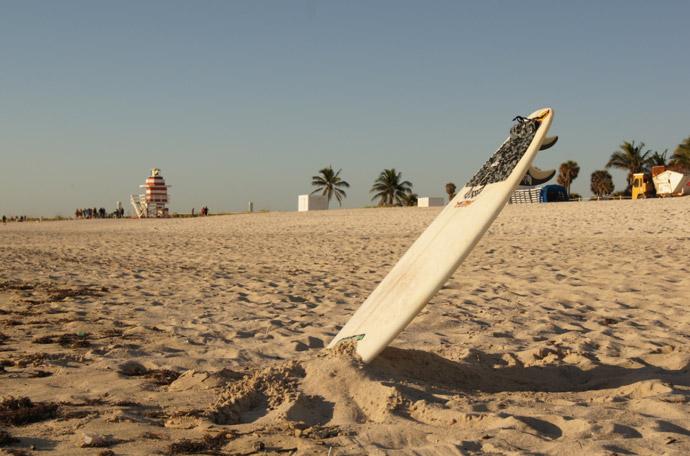 Surfbrett-Strand
