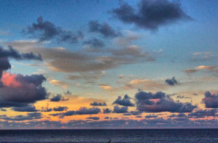 Himmel-Sonnenaufgang-Seychellen