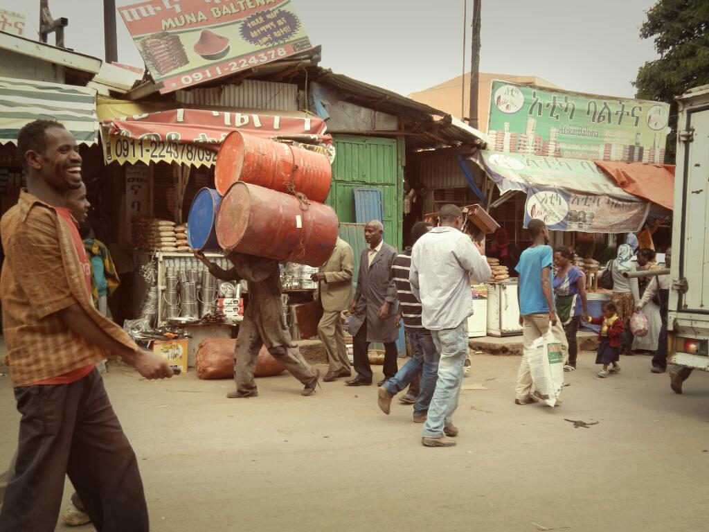 Addis-Abeba-Äthiopien-Markt