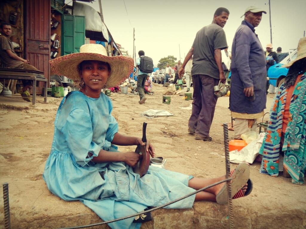 Addis-Abeba-Äthiopien-Frau