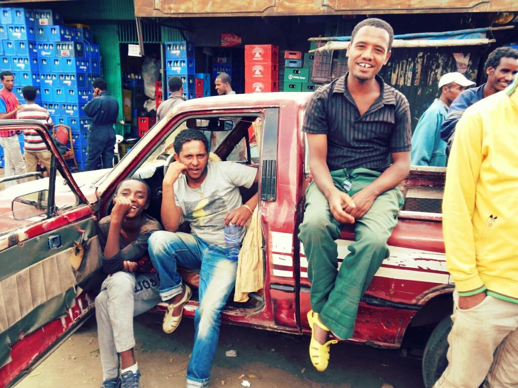 Bewohner-Addis-Abeba-Äthiopien