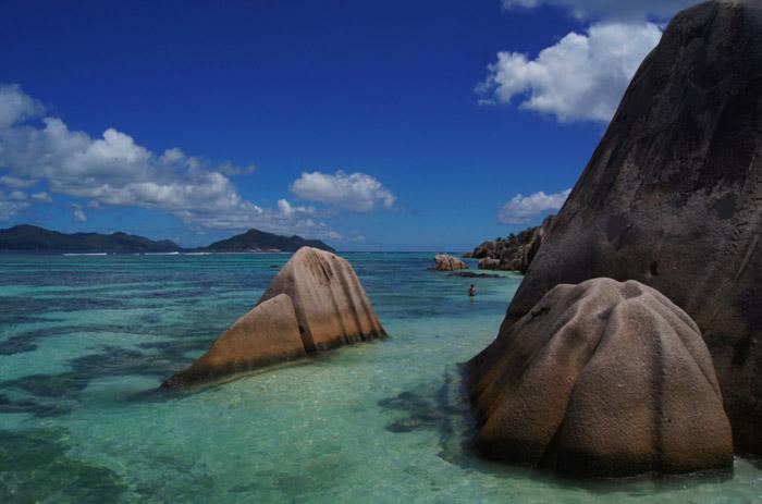 Granitfelsen-Seychellen-Traumstrand