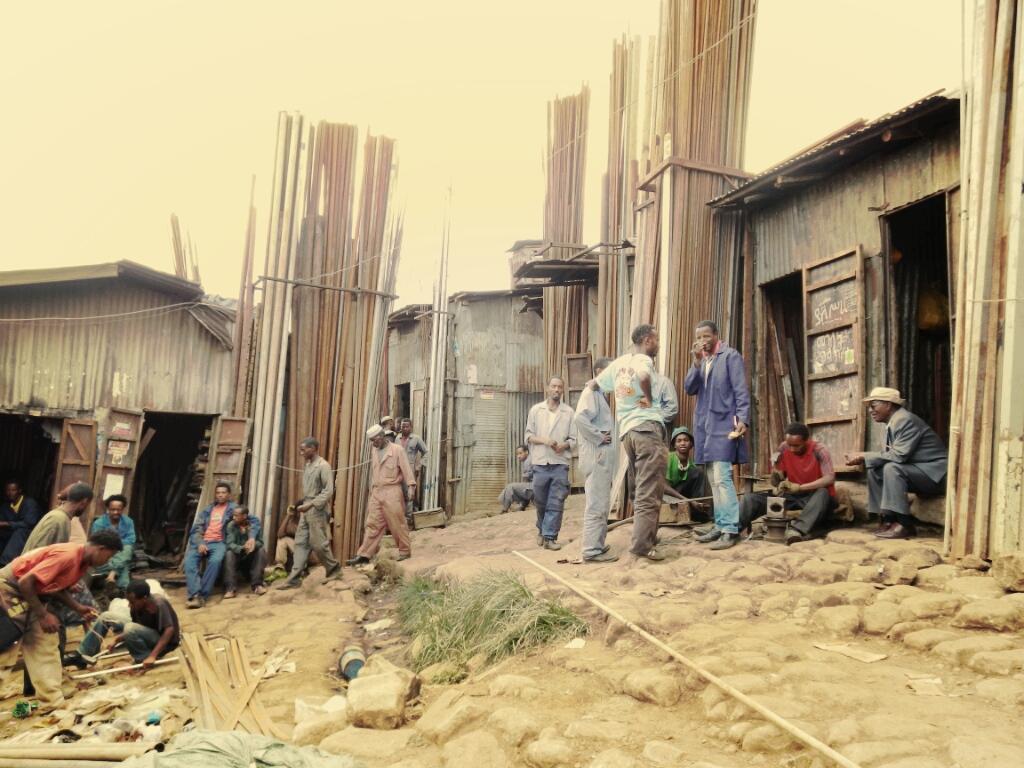 Marcato-Marktstände-Addis-Abeba-Äthiopien