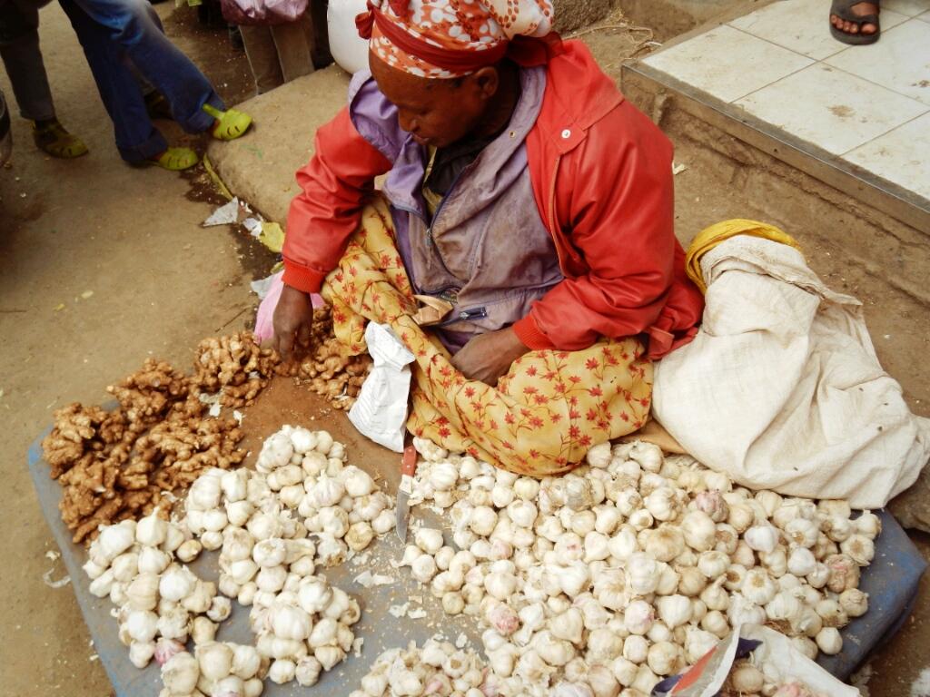 Verkäuferin-Addis-Abeba-Äthiopien