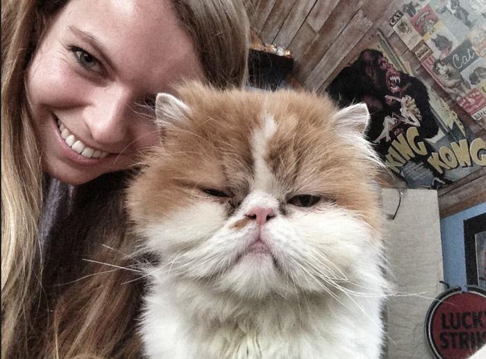 Christine-Neder-and Cuttest-Cat
