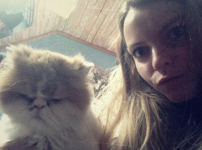 Christine und Katze