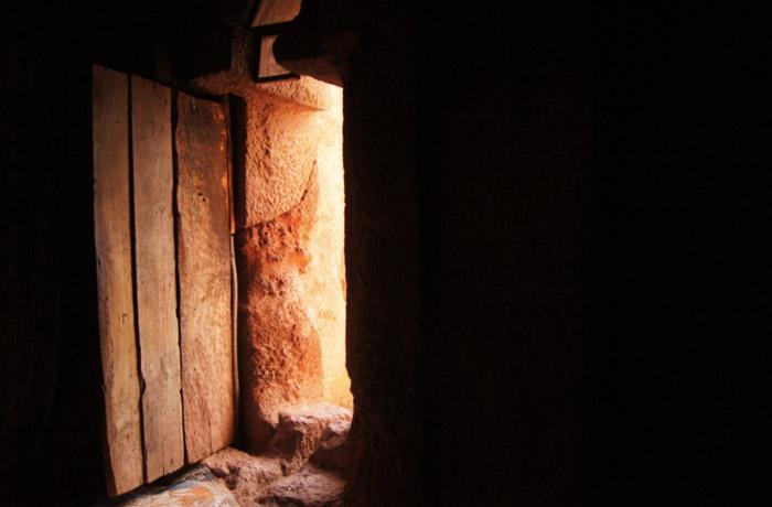Lalibela-Tür-Felsenkirche